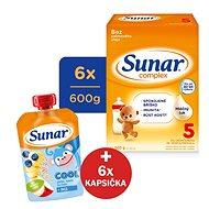Sunar Complex 5 - 6× 600 g + Sunar do ručičky 100% ovoce - Kojenecké mléko