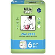 MUUMI BABY Walkers Junior vel. 6 (36 ks) - Dětské pleny