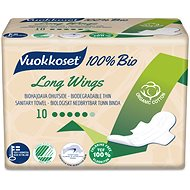 VUOKKOSET 100% BIO Long Wings thin 10 pcs - Eco Menstrual Pads