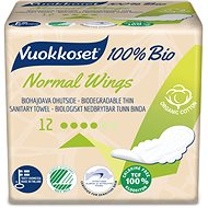 VUOKKOSET 100% BIO Normal Wings thin 12 pcs - Eco Menstrual Pads