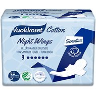 VUOKKOSET Cotton Night Wings 9 pcs - Eco Menstrual Pads
