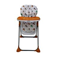 BOMIMI SELENA - oranžová s pejsky - Jídelní židlička