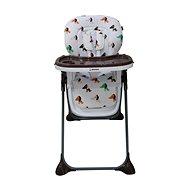 BOMIMI SELENA - kávově hnědá s pejsky - Jídelní židlička