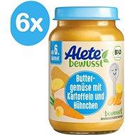 ALETE BIO Příkrm mrkvový s bramborem a kuřecím masem 6× 190 g - Dětský příkrm
