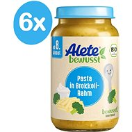 ALETE Pasta Pasta with broccoli and cream 6 × 220 g - Baby food