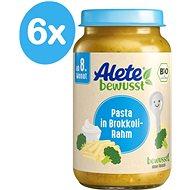 ALETE Příkrm Těstoviny s brokolicí a smetanou 6× 220 g - Příkrm