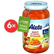 ALETE BIO Příkrm Špagety s rajcaty a mozzarellou 6× 220 g - Dětský příkrm
