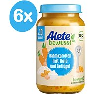 ALETE BIO Cream Carrots with rice and turkey meat 6 × 220 g - Baby food