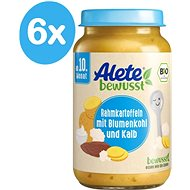 ALETE BIO Poultry Potatoes with cream and cauliflower 6 × 220 g - Baby food