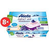 ALETE Jogurtový dezert borůvkový 8× 300 g - Dětský příkrm