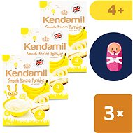 Kendamil Fine baby banana slice 3 × 125 g - Milk pudding