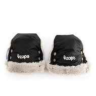 Zipper Winter Fluffy Gloves - Black - Gloves