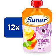 Sunárek cool ovoce Hruška, Banán, Mango 12× 120 g - Příkrm