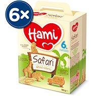 Hami sušenky Safari 6+  6× 180 g - Sušenky pro děti