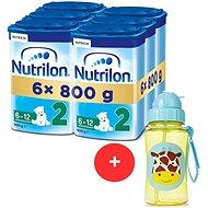 Nutrilon 2 Pokračovací mléko 6m+  6× 800 g + Skip hop Zoo Lahvička s brčkem