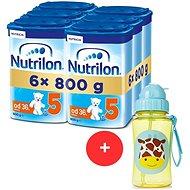 Nutrilon 5 Dětské mléko 36m+  6× 800 g + Skip hop Zoo Lahvička s brčkem