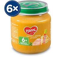 Hami Zelenina s dušeným jehněčím 6× 125 g - Příkrm