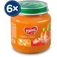 Hami První lžička Přesnídávka Jablíčko s mrkví 6× 125 g - Příkrm