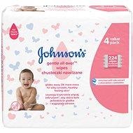 JOHNSON'S BABY Gentle All Over vlhčené ubrousky 224 ks - Dětské vlhčené ubrousky