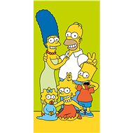 Jerry Fabrics Simpsons family green - Towels for babies