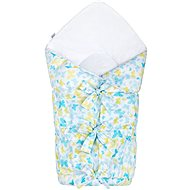 New Baby Classic lacing wrapper - blue butterflies - Swaddle blanket