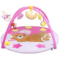 PlayTo playing blankets with melody sleeping teddy bear - pink - Play Mat