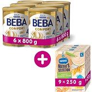 BEBA COMFORT 4 HM-O (6× 800 g) + NESTLÉ Mléčná kaše Pšenično Ovesná 9× 250 g