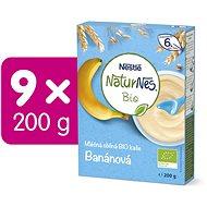 NESTLÉ Naturnes BIO Mléčná kaše Banánová 9× 200 g  - Mléčná kaše