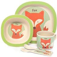 Zopa Bambusová sada nádobí - Fox - Dětská jídelní sada