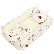 New Baby Multifunkční hnízdečko s polštářkem a peřinkou mevídci - šedé - Hnízdo pro miminko