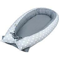 New Baby Hnízdečko puntíky - šedé - Hnízdo pro miminko
