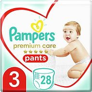 PAMPERS Premium Pants Carry Pack vel. 3 (28 ks) - Plenkové kalhotky