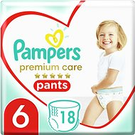 PAMPERS Premium Pants Carry Pack vel. 6 (18 ks) - Plenkové kalhotky