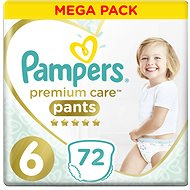 PAMPERS Premium Pants Mega Box vel. 6 (72 ks) - Plenkové kalhotky