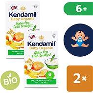 Kendamil Bio/organická bezlepková ovocná kaše 2× 150 g - Nemléčná kaše