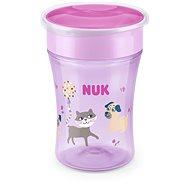 NUK hrnek Magic Cup s víčkem 230 ml - růžová - Dětský hrnek