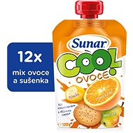 Sunárek Cool ovoce Pomeranč, banán, sušenka 12× 120 g - Příkrm