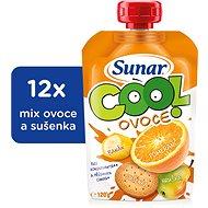 Sunárek Cool fruit Orange, banana, 12 × 120 g biscuit - Baby Food
