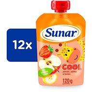 Sunárek Cool fruit Strawberry, banana, apple 12 × 120 g - Baby Food