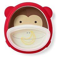 Skip Hop Zoo 2v1 - talíř a miska - Opička - Dětská jídelní sada