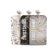 TWISTSHAKE Plnitelná kapsička 3× 220 ml - mramorově šedá