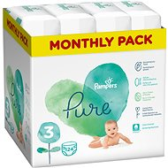 PAMPERS Pure Protection Size 3 (124 pcs) - Baby Nappies