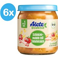 ALETE BIO Těstoviny se šunkou v zeleninové omáčce 6× 250 g - Příkrm