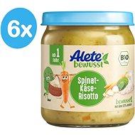 ALETE BIO Sýrové rizoto se špenátem 6× 250 g - Dětský příkrm