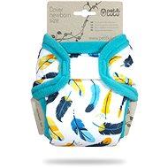 PETIT LULU  Novorozenecké svrchní kalhotky - tyrkysový peříčka - Plenkové kalhotky