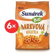 Sunárek Bio křupky mrkvová kolečka 6× 50 g - Sušenky