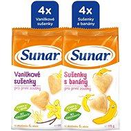 Sunárek dětské sušenky mléčné mix karton 6× 175 g - Sušenky pro děti