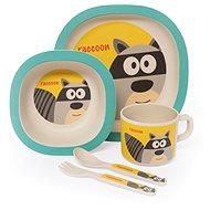 Zopa Bambusová sada nádobí - Raccoon - Dětská jídelní sada