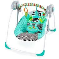 Bright Starts Houpačka skládací Zig Zag Zebra 0m+, do 9 kg - Dětské lehátko