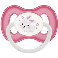 Canpol babies Dudlík kaučukový 0–6 měsíců růžový